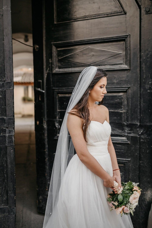 bride, exit, gateway, portrait, girl, wedding, woman, fashion, model, street