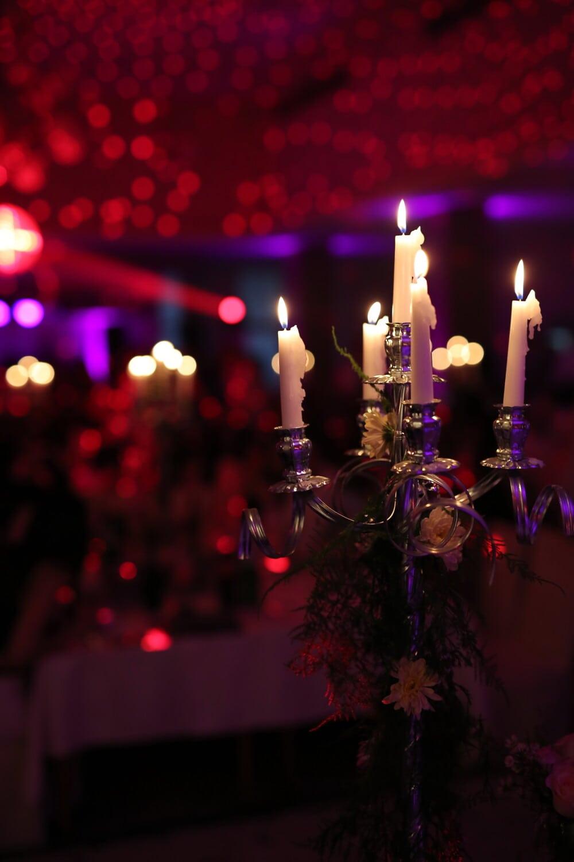 romance, atmosphère, chandelier, aux chandelles, bougies, parti, bougie, célébration, sombre, lumière