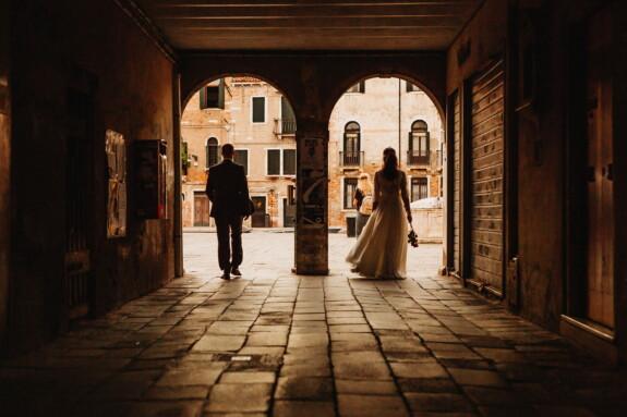 sépia, nostalgie, tout juste marié, memorabilia, passage, la mariée, bâtiment, jeune marié, romantique, architecture