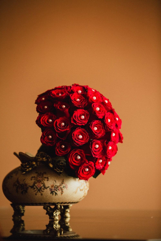 Kunst, Fotografie, Still-Leben, Blume, Dekoration, stieg, Blatt, Farbe, Jahrgang, schöne