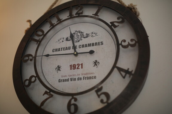 french, vintage, analog clock, hanging, wall, black and white, nostalgia, clock, antique, analogue