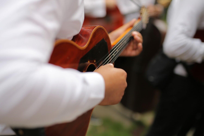guitariste, guitare, musique, acoustique, musicien, main, musical, instrument, homme, gens