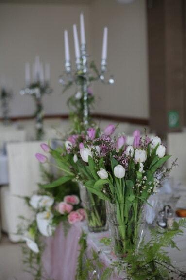 fancy, elegance, dinner table, tulips, bouquet, flower, arrangement, flowers, vase, still life