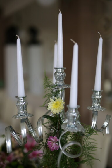 white, candles, silver, candlestick, candle, still life, interior design, celebration, retro, indoors