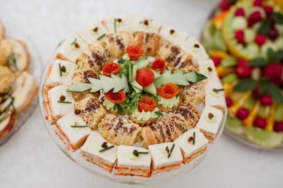 sushi, ørkenen, buffet, bakervarer, salat, måltid, middag, mat, lunsj, vegetabilsk