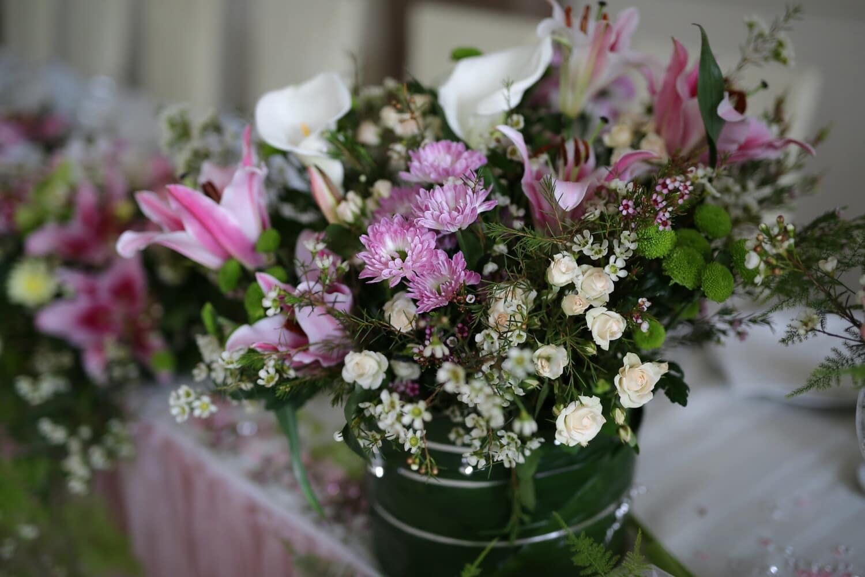 décoration, table, bouquet, vase, fleurs, Rose, Rose, fleur, plante, arrangement