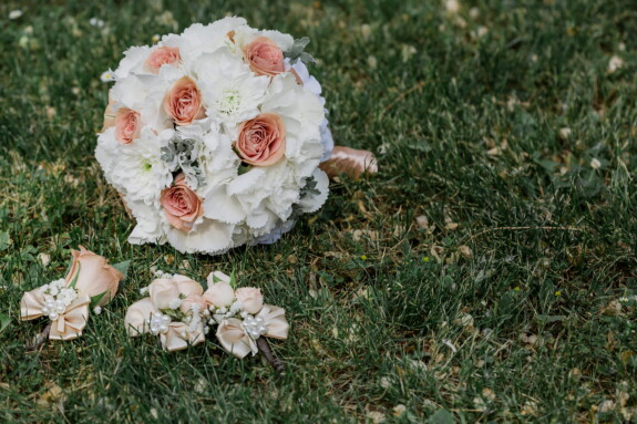 bouquet, lawn, rose, flower, wedding, grass, nature, garden, beautiful, love