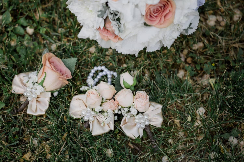 Blumenstrauß, Blume, Hochzeit, Liebe, Natur, schöne, Gras, Romantik, Dekoration, Farbe