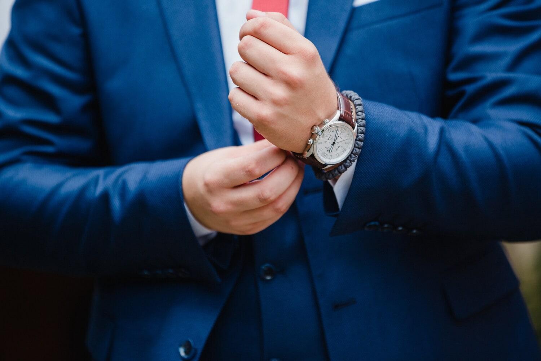 náramkové hodinky, ruky, podnikateľ, pekný, modrá, oblek, manažér, kravata, ručné, Čas