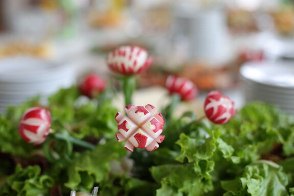 radish, red, decoration, lettuce, salad, plant, pink, health, leaf, delicious