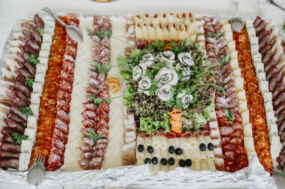 cheese, salami, appetizer, buffet, sausage, banquet, fancy, delicious, food, meal