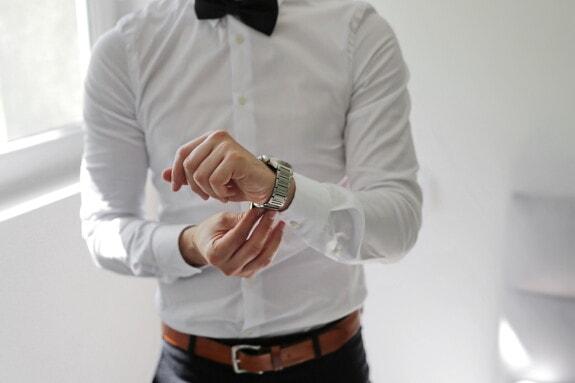 noir, nœud papillon, chemise, blanc, montre à bracelet, élégance, homme d'affaire, à l'intérieur, homme, entreprise