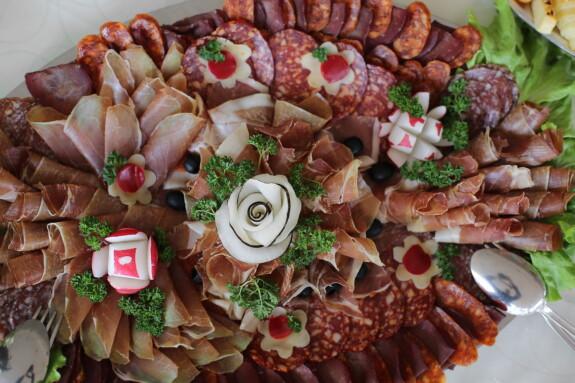 radis, salami, laitue, jambon, Bacon, porc, snack, apéritif, alimentaire, délicieux