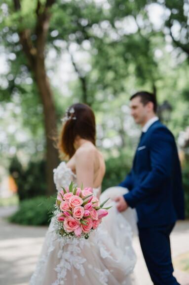 bryllup, engasjement, bruden, blomster, brudgommen, kjole, kjærlighet, par, bukett, ekteskap
