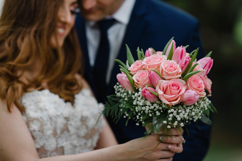 Freund, Freundin, Valentinstag, Geschenk, Blumenstrauß, Romantik, Liebe, Anordnung, Blumen, Dekoration