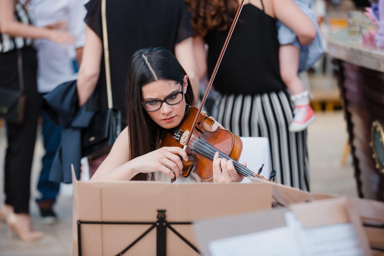 Musiker, junge Frau, herrlich, Unterhaltung, Performer, Geige, Musik, Klassiker, Frau, Konzert