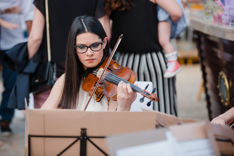 їдальні, концерт, скрипка, музикант, симпатична дівчина, жінка, музика, інструмент, продуктивність, люди