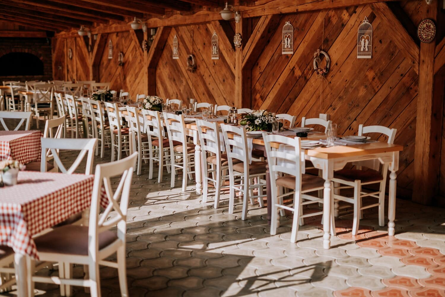 restaurant, interior, cafeteria, empty, seat, chair, wood, table, house, furniture