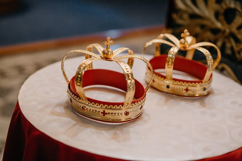 Couronne, éclat doré, Or, couronnement, bijoux, luxe, brillante, élégant, mode, décoration