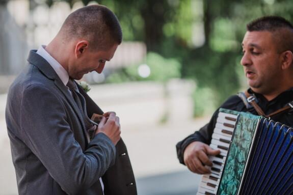 аккордеон, конферансье, певица, музыкант, наличные, Клиент, деньги, человек, люди, музыка