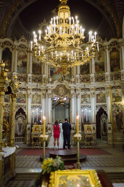 church, Serbia, orthodox, interior, monastery, altar, wedding, bride, godfather, groom