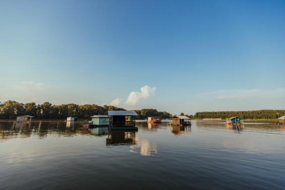 къщи, Lakeside, навес за лодки, ниво на водата, плаващ, сграда, вода, езеро, навес, отражение
