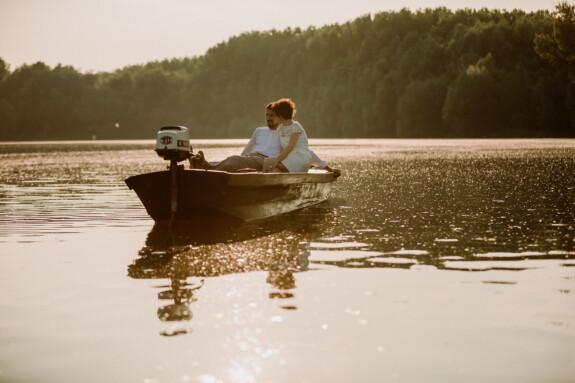 bateau, romantique, petit ami, petite amie, date d'amour, Lac, eau, gens, rivière, coucher de soleil