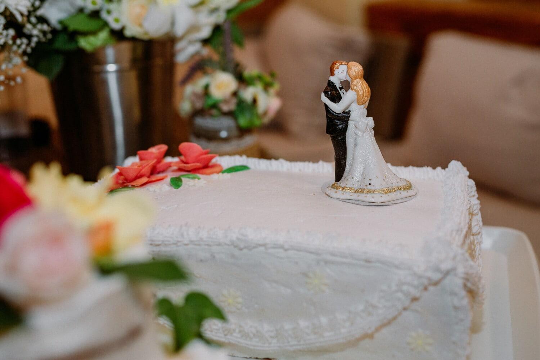 Hochzeitstorte, Dekoration, Figurin, Braut, Bräutigam, Hochzeit, Kuchen, Zucker, Backen, Schokolade