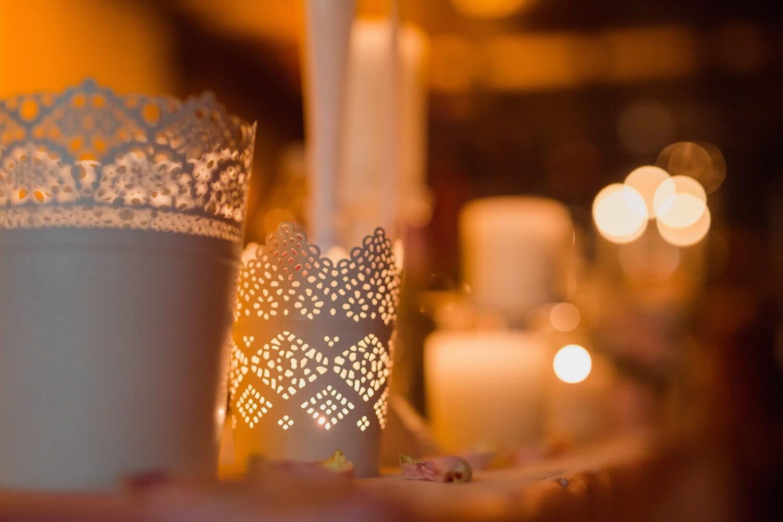 Kerzen, Candle-Light, Weihnachten, Licht, Ornament, Dekoration, Kerze, verwischen, glänzend, Feier