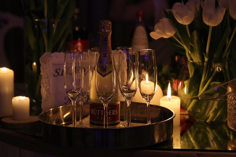 샴페인, 로맨틱, 분위기, 알코올, 촛불, 와인, 캔 들, 화 염, 축 하, 크리스마스