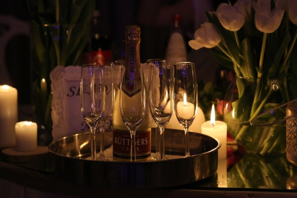 champagne, romantic, atmosphere, alcohol, candlelight, wine, candle, flame, celebration, christmas