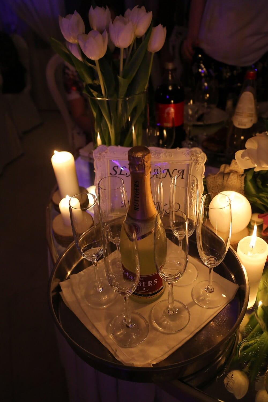vin blanc, bouteille, période de vacances, nouvel an, champagne, cérémonie, fantaisie, alcool, verre, célébration