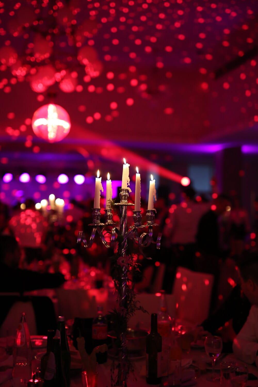 spectaculaire, nouvel an, boîte de nuit, atmosphère, Vie nocturne, bougies, restaurant, aux chandelles, hôtel, Noël