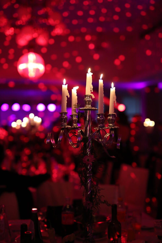 boîte de nuit, nouvel an, Vie nocturne, décoration, chandelier, bougies, célébration, diode, aux chandelles, bougie