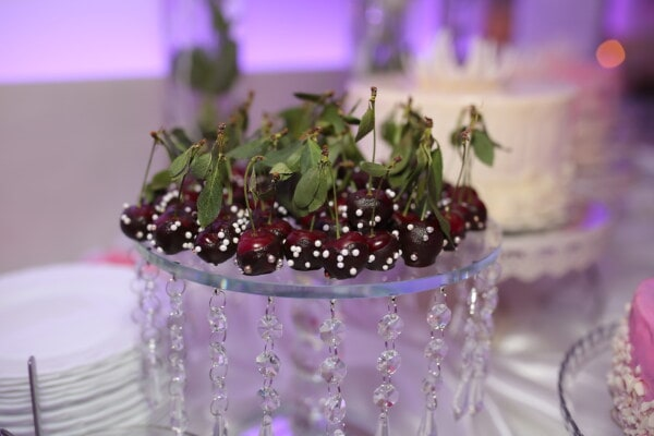 candy, cherries, delicious, fruit, dessert, banquet, buffet, decoration, flower, celebration