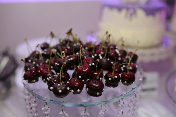 cherries, delicious, decoration, fruit, fresh, dessert, berry, cherry, sweet, food