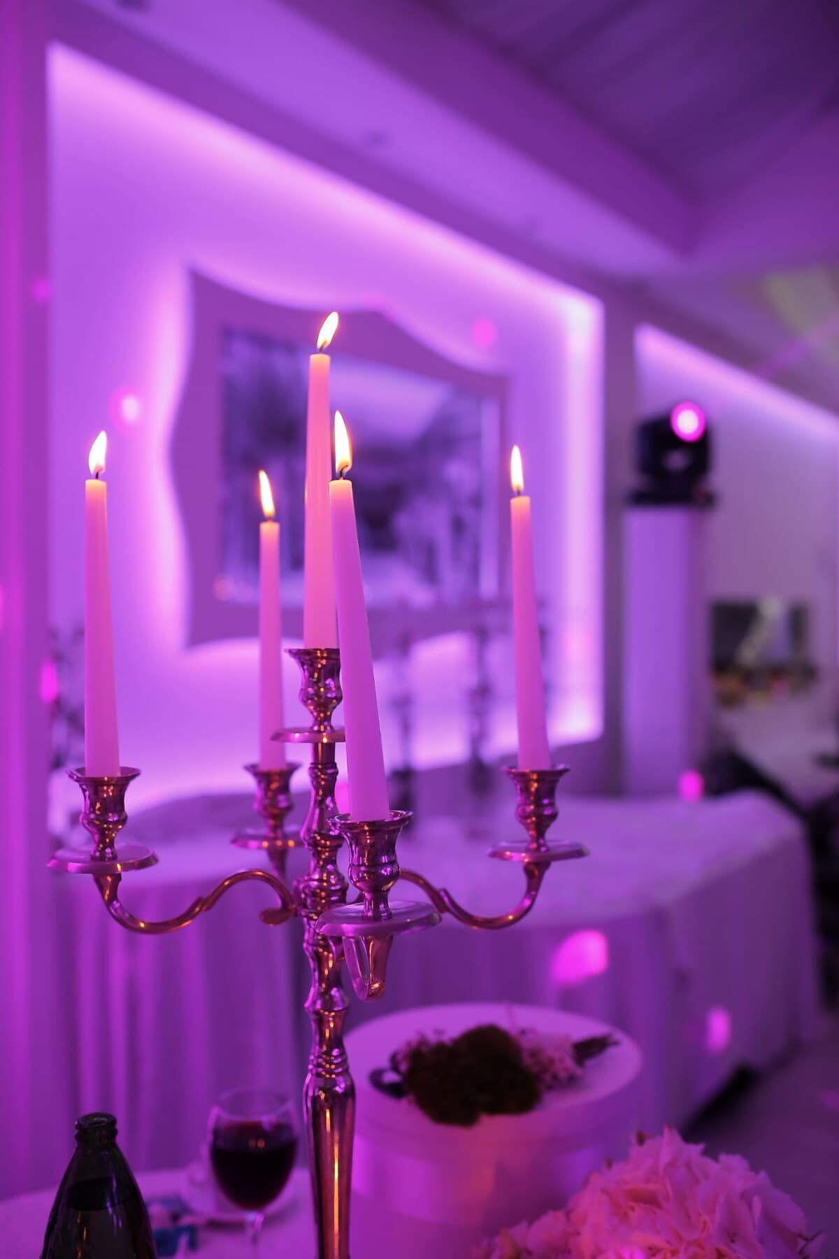 Leuchter, Kerzen, Inhaber, Kerze, Interieur-design, drinnen, Candle-Light, Licht, Hotel, Weihnachten