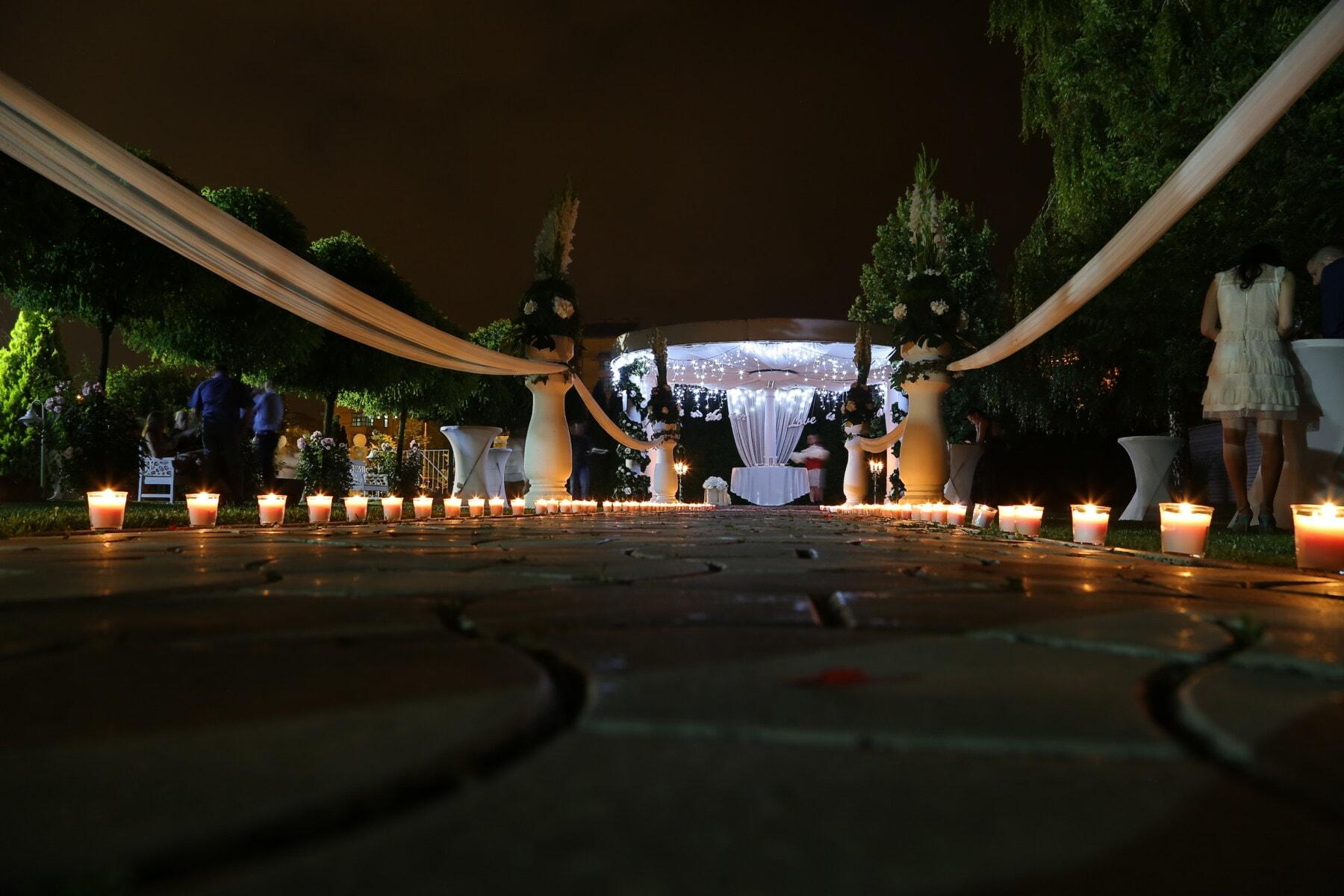 noćni život, noćno doba, mjesto vjenčanja, hotel, naselju na području, svijetlost svijeće, arhitektura, svjetlo, svijeća, ljudi