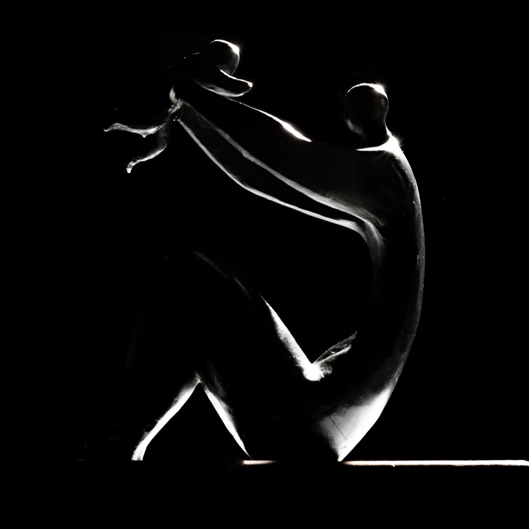 Skulptur, schwarz und weiß, Fotostudio, Mutterschaft, untergeordnete, übergeordnete, Fotografie, Schatten, Elternschaft, Dunkelheit