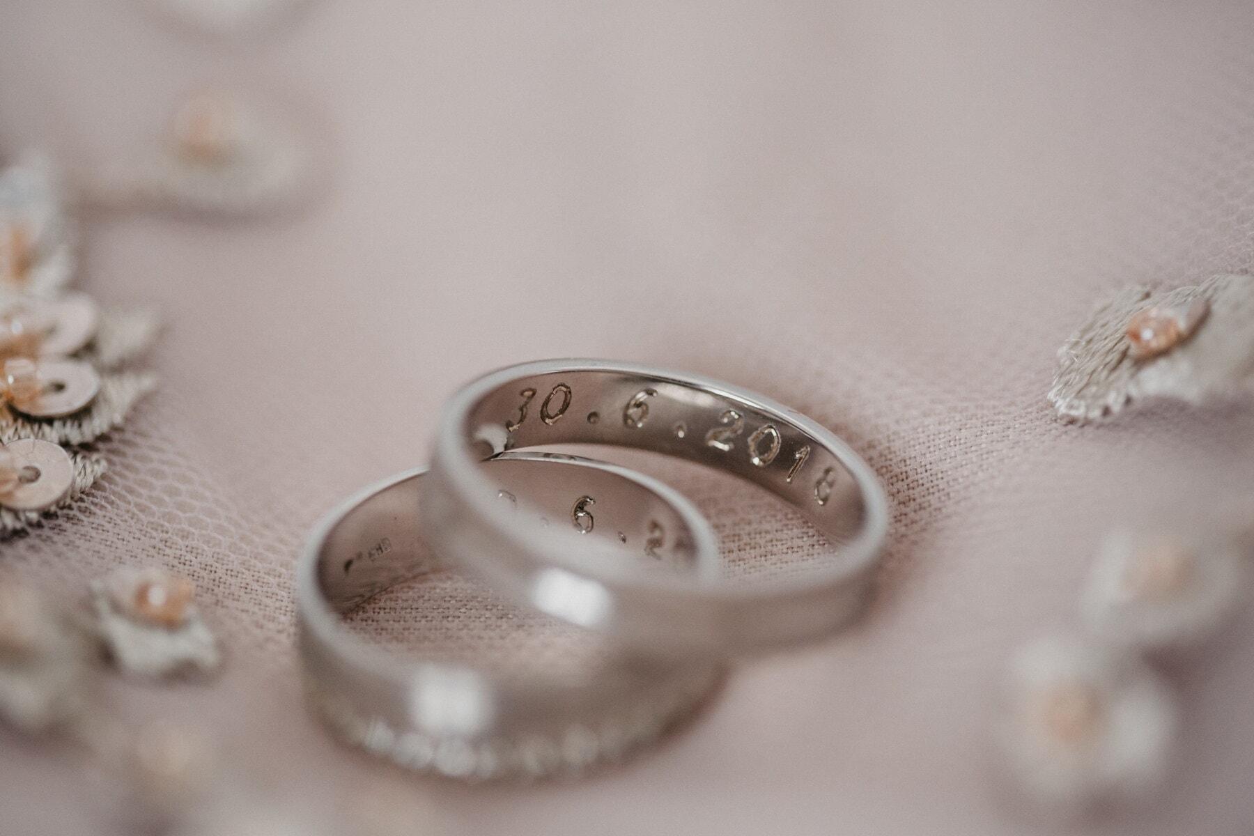 bague de mariage, bijoux, mariage, nature morte, luxe, à l'intérieur, fermer, amour, traditionnel, Or