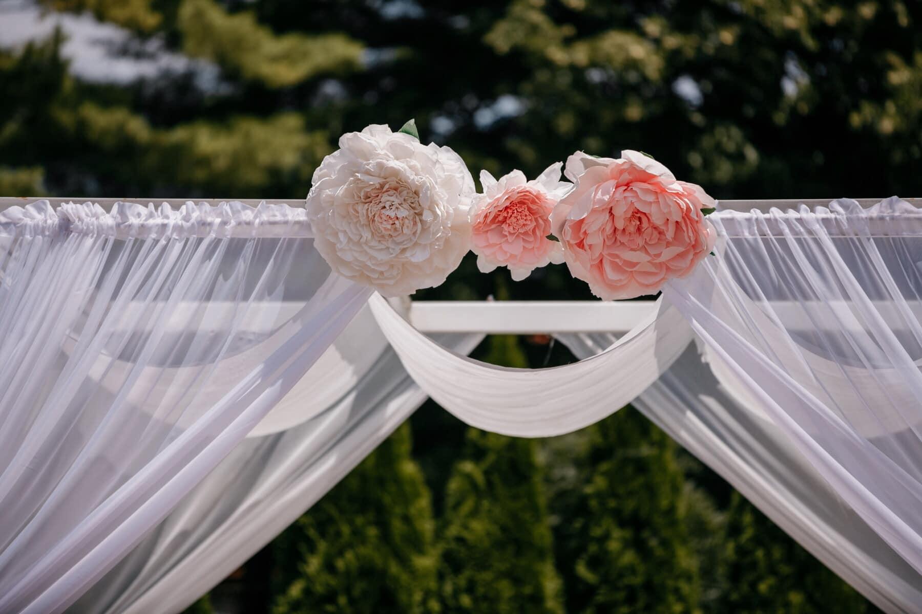 decoration, curtain, wedding venue, arrangement, wedding, love, flowers, flower, romance, outdoors