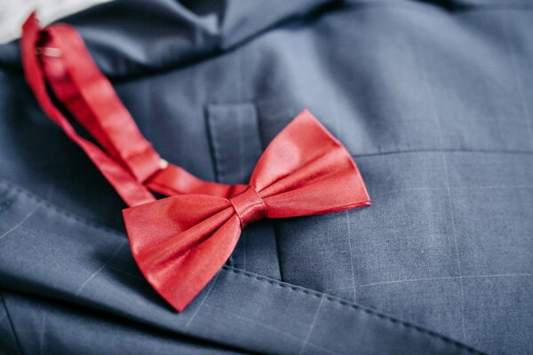 knot, red, tie, bowtie, detail, fashion, glamour, tuxedo suit, elegance, silk