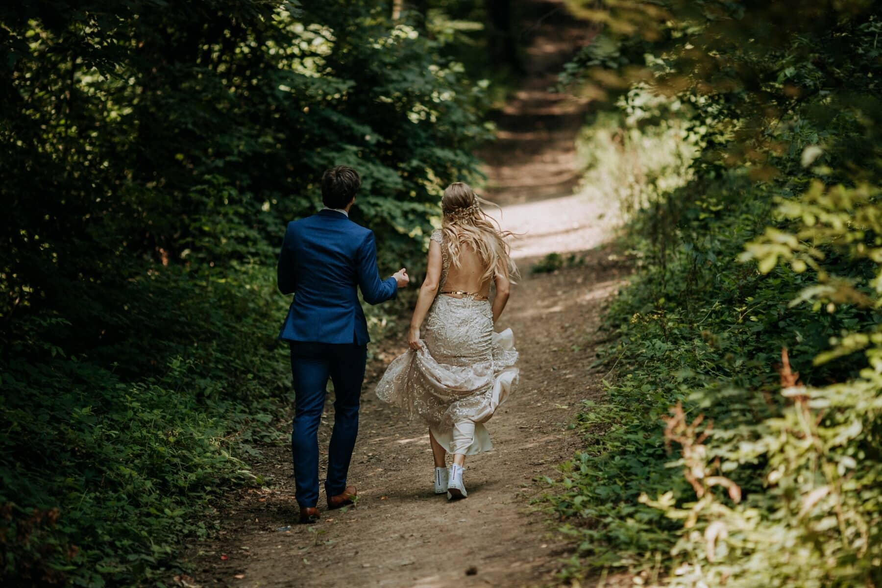 лес, дружок, веселье, люди, единения, поход, образ жизни, романтический, подруга, отдых