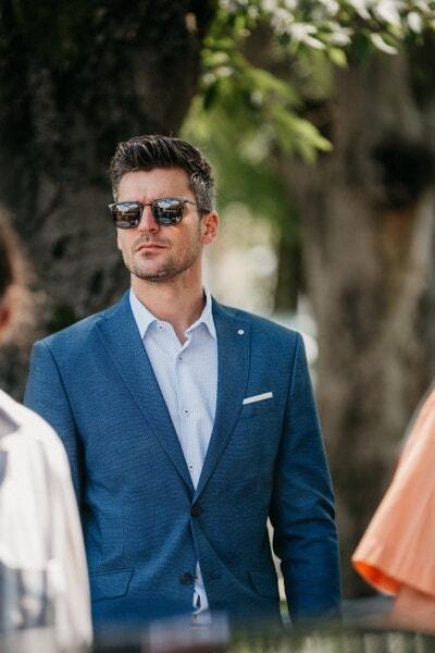 Anzug, Geschäft, gut aussehend, Porträt, Mann, Person, Exekutive, Geschäftsmann, Menschen, im freien