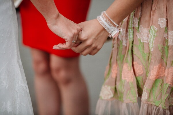 holding hands, love, girls, wedding, girlfriend, women, bride, emotion, affection, tenderness