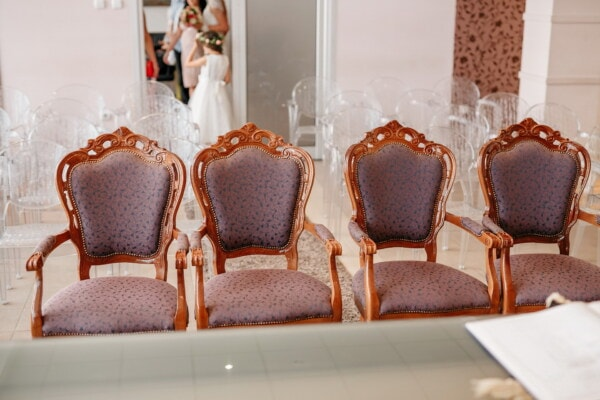 luxury, chairs, salon, baroque, comfortable, indoors, interior design, chair, seat, furniture