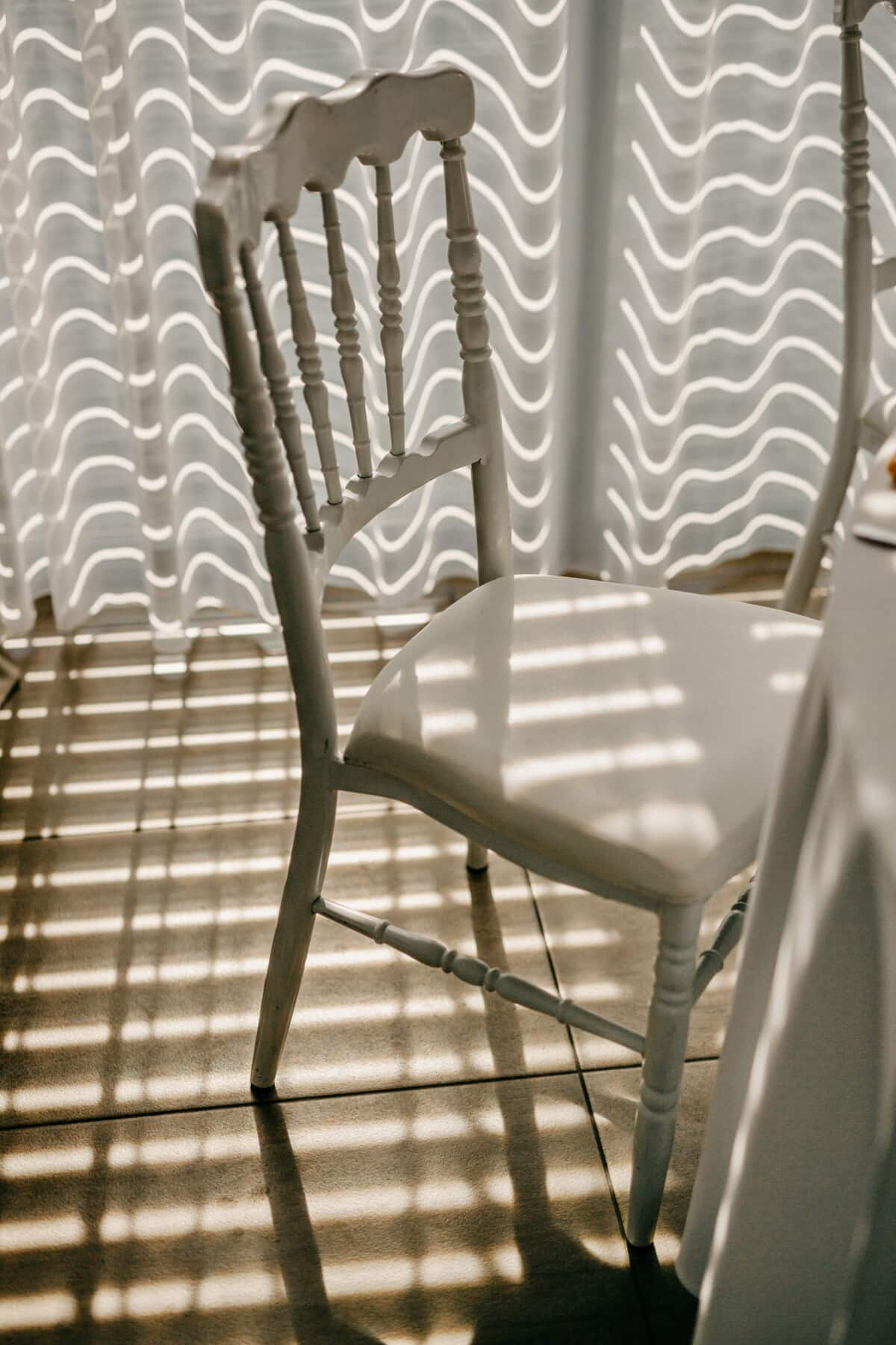 white, chair, old, vintage, seat, window, indoors, design, empty, light