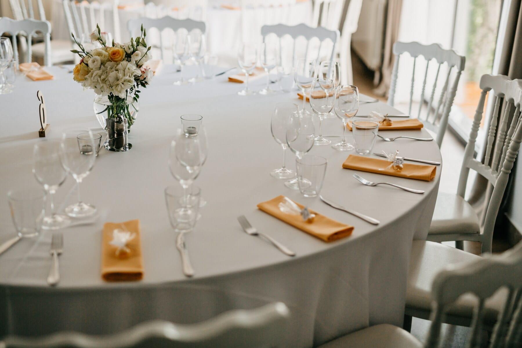 à l'intérieur, vaisselle, argenterie, coutellerie, mariage, table, à manger, Design d'intérieur, couverts de table, luxe