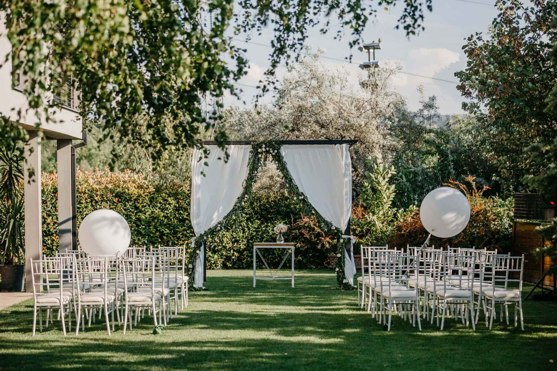 Hochzeitsort, Garten, elegant, Möbel, Rasen, Struktur, Stuhl, Park, Architektur, Familie