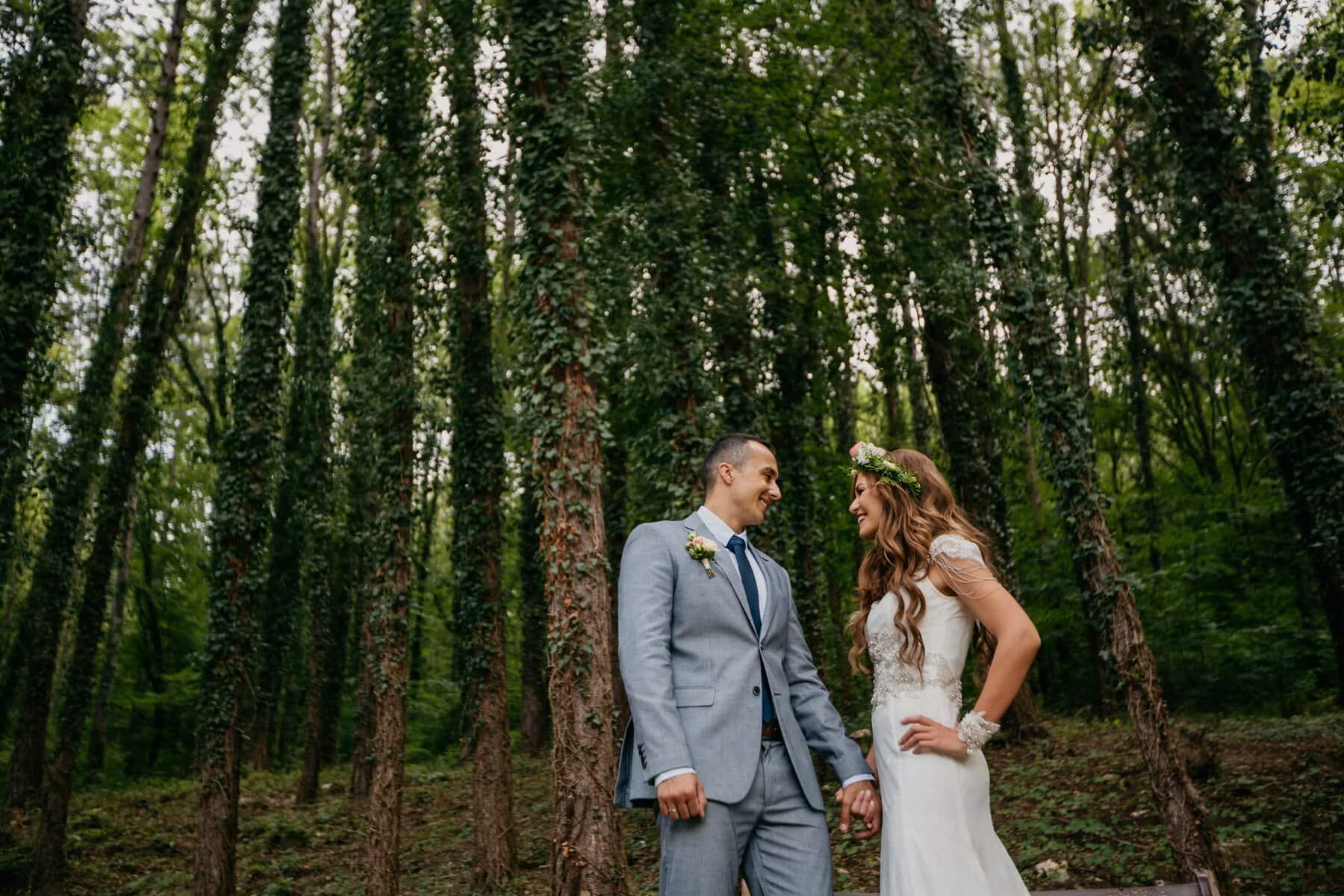 Tanrıça, Çekici, Prens, Prenses, Tatlı kız, su perisi, Düğün, damat, park, ağaç